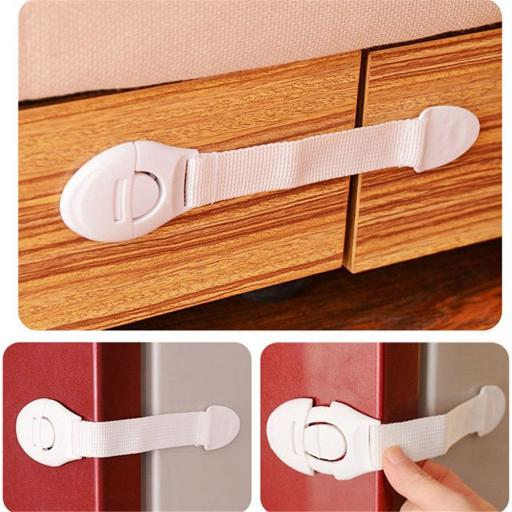 Baby Protection Safety Plastic Locks For Child Kids Cabinet Door Drawers Refrigerator Toilet Safety Lock Baby Safety Locks Baby Protection Baby Safety Cabinets