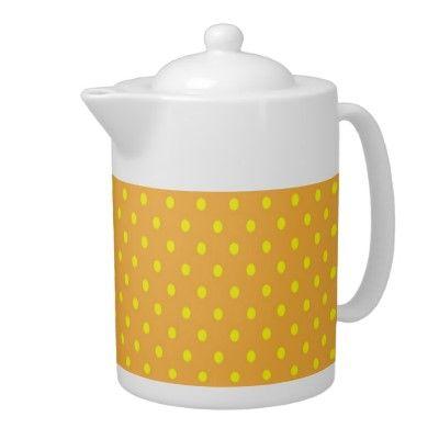 Teapot Polka Dot Yellow and Orange  http://www.zazzle.com/teapot_polka_dot_yellow_and_orange-180686237527158105