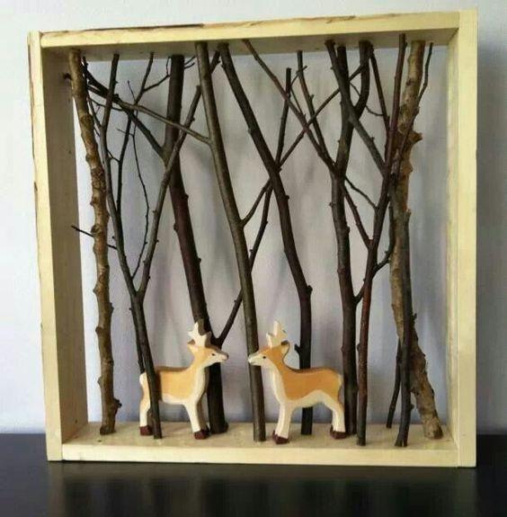 Altered Book Box Mini Room Night Light Emma Book: DIY Birch Branch Shadowbox