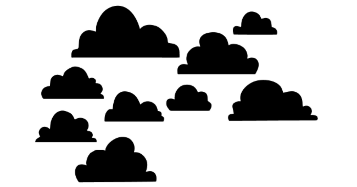 free clouds SVG file - from mel stampz svg | Cricut Explore