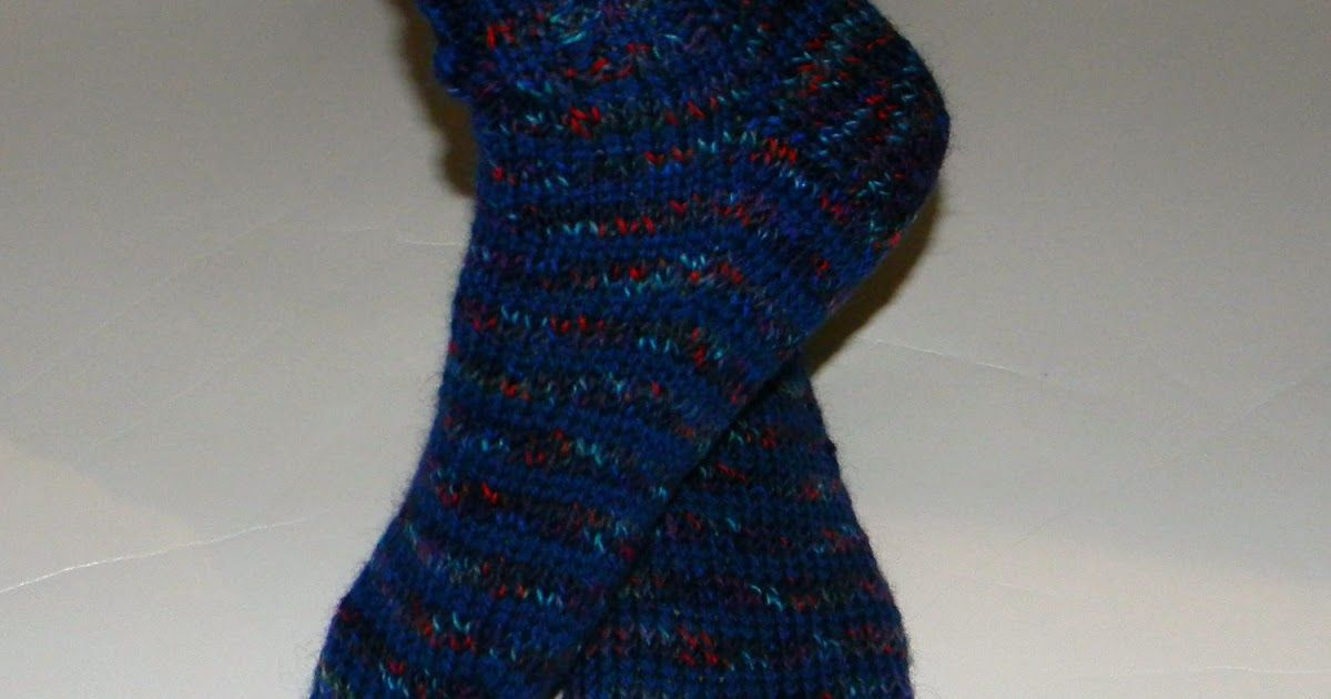 Straight Needle Sock Pattern   Sock patterns, Straight ...