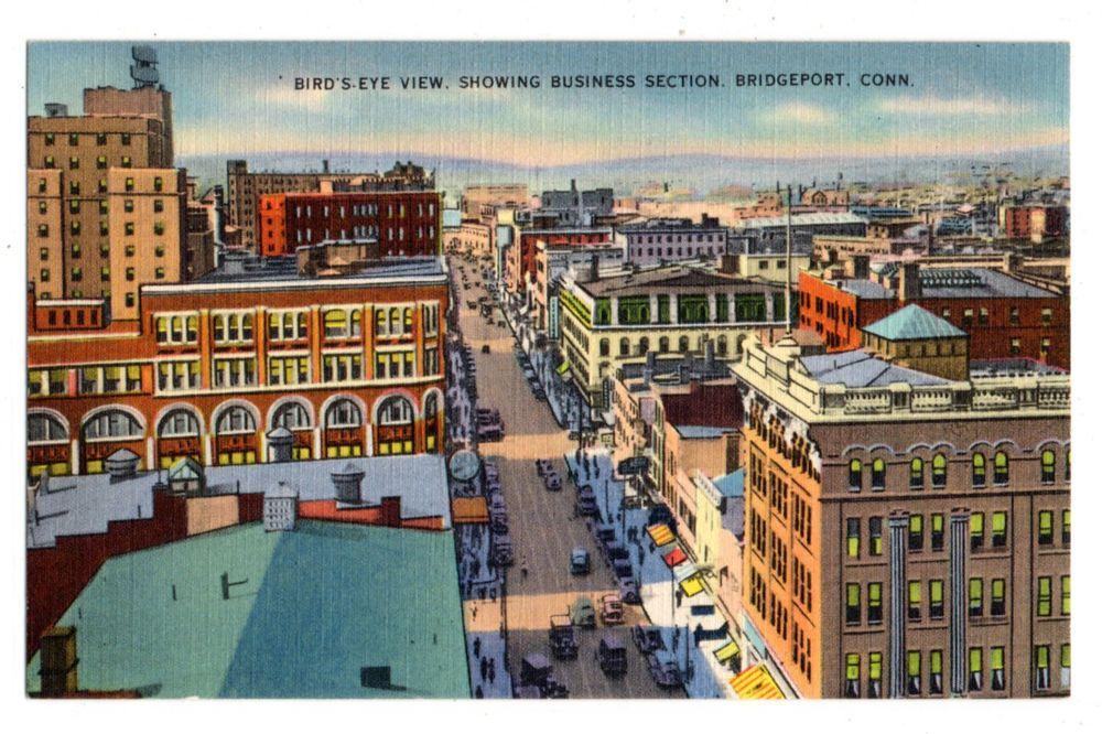 Bird's Eye View, Showing Business Secion, Bridgeport CT