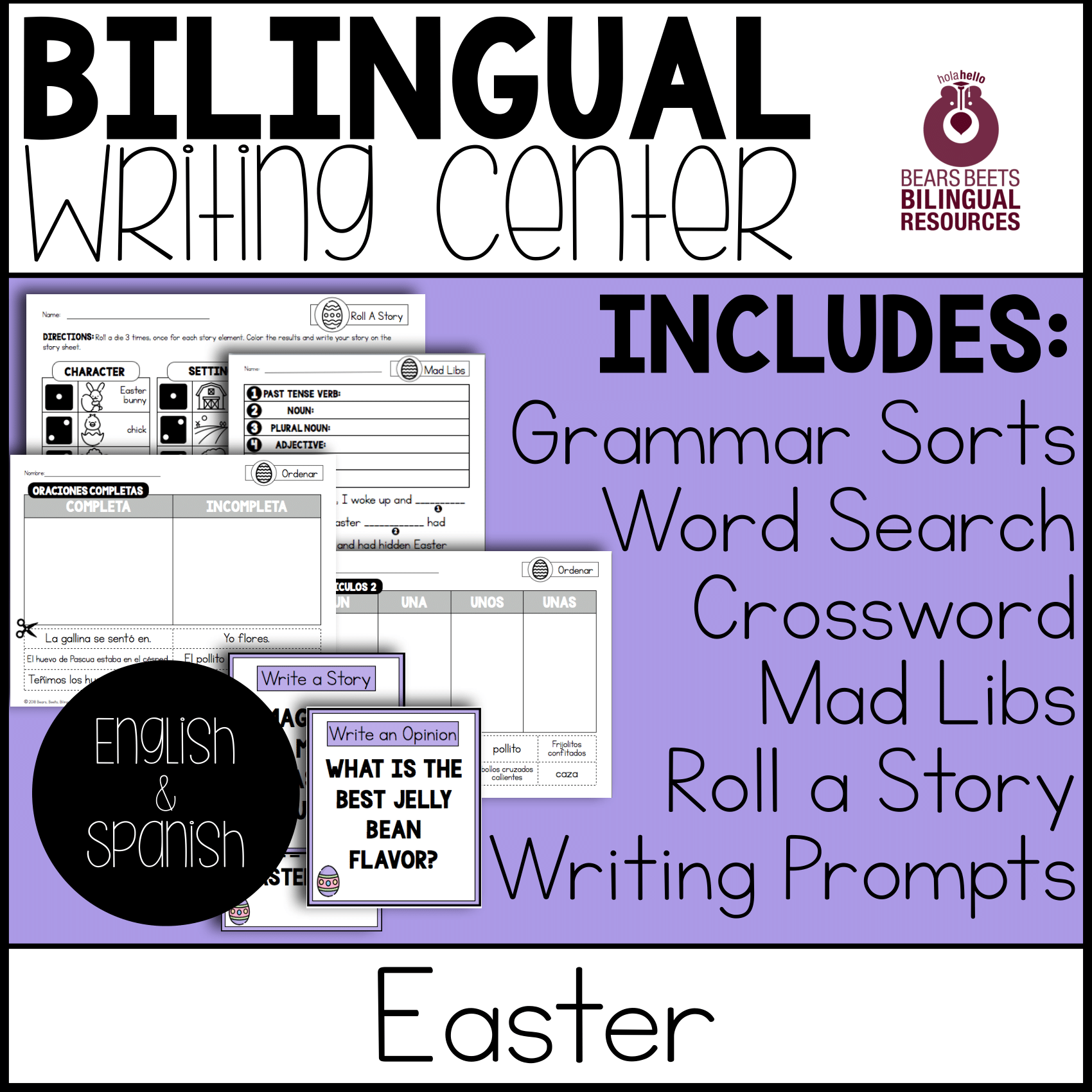 Bilingual Writing Center Easter Pack