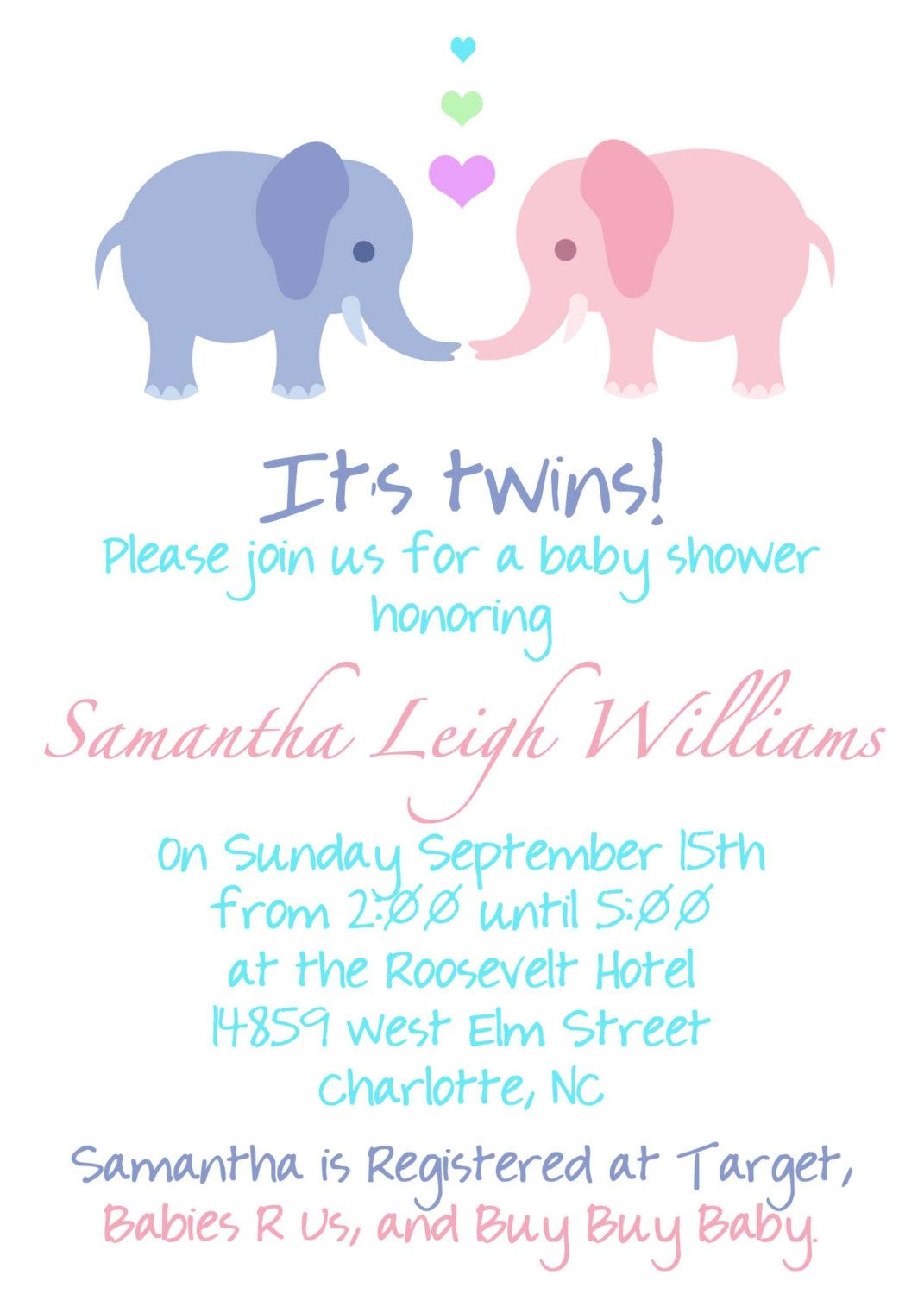 Twin Pregnancy Announcement Wording!!! | Baby Shower Invitation ...