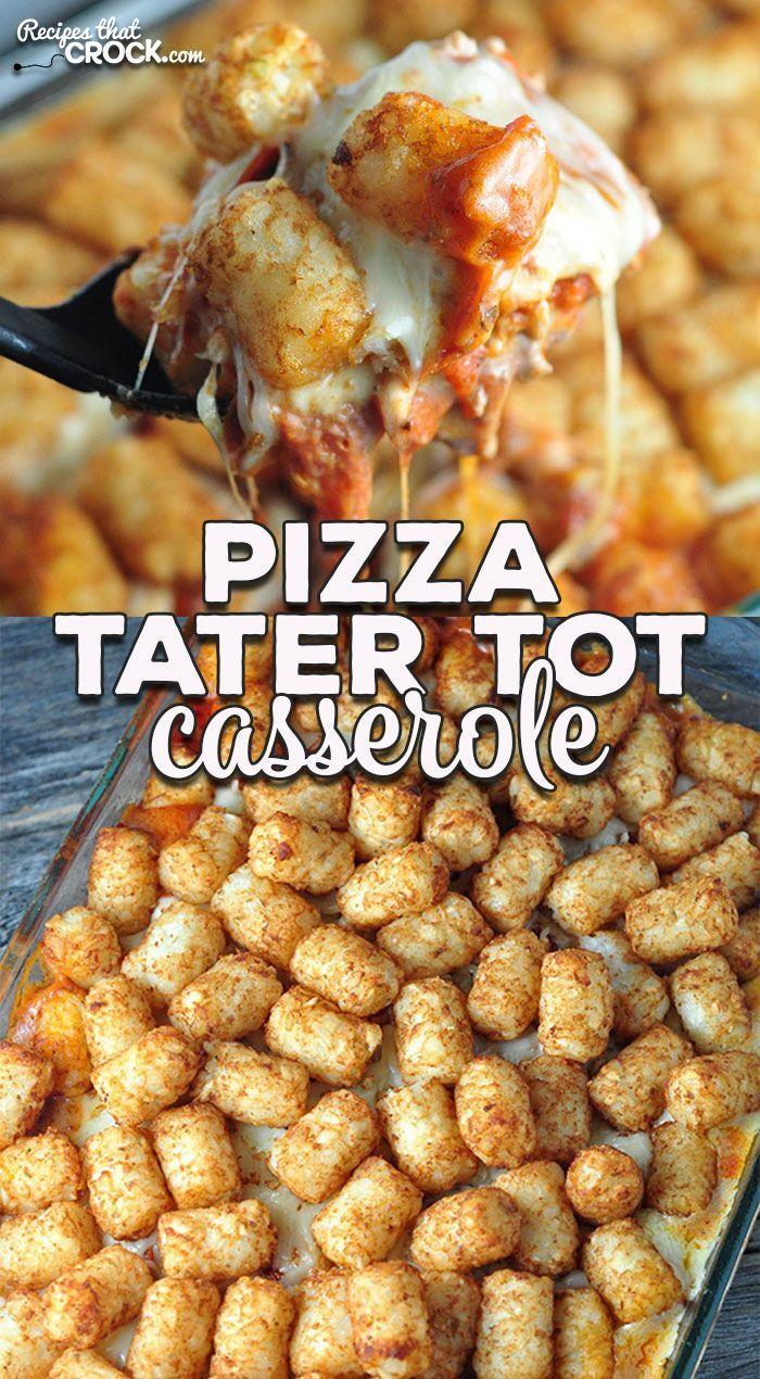Pizza Tater Tot Casserole (Oven Recipe) - Recipes That Crock!