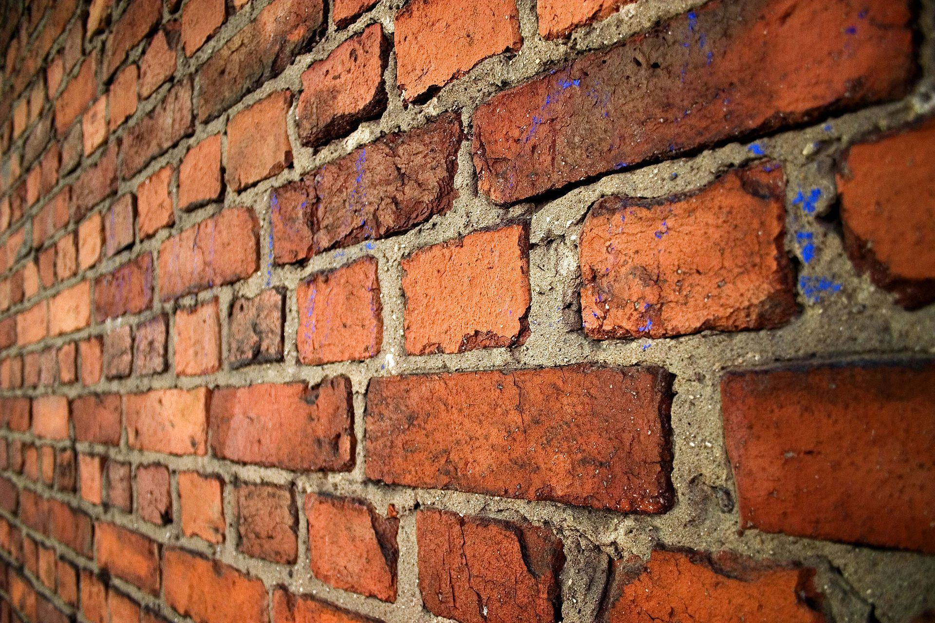 An Old Brick Wall In English Bond Laid With Alternating