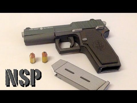 Yoshinys Design Pm Nsp Paper Craft Gun Build And Review
