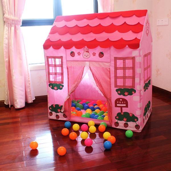 Online Discount Shop Australia Fun Tent For Kids Plastic Playhouse Girl City House Kids Secret Garden Pink Play Tent Pink