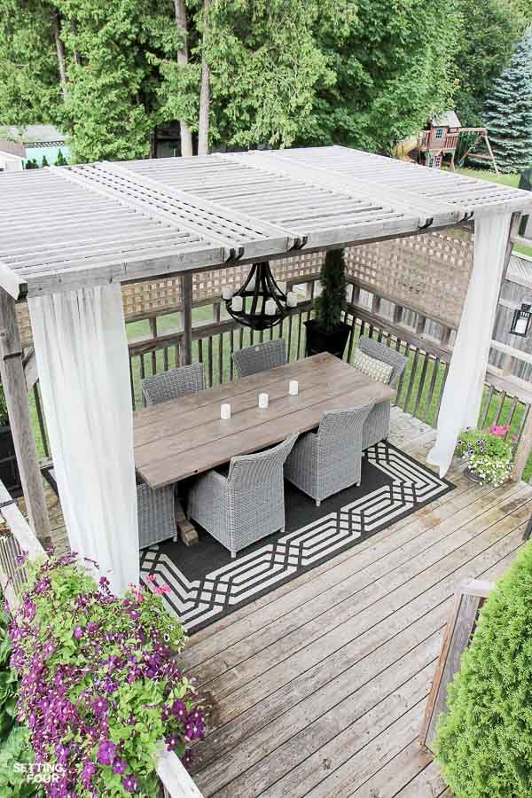 Exterior Home Decor Idea Diy Outdoor Curtain Rods For Your Gazebo Or Porch Quick And Easy