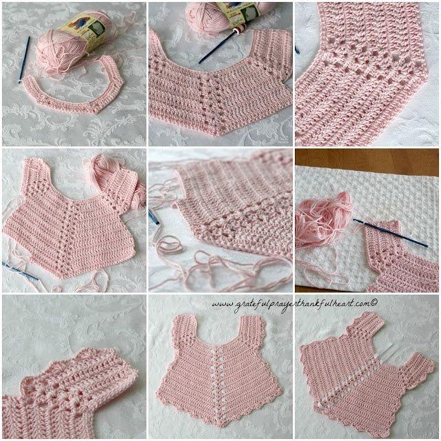 vestido rosa passo a passo | Tricô & Crochê | Pinterest | Crochet ...