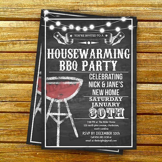 Celebrate your new home with your friends and family invite