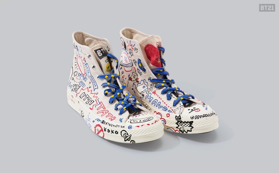 auténtico linda zapatos exclusivos Pin de Ilhoonah ❤ Ilhoonie ❤ BTOB en Converse bt21 (BTS ...