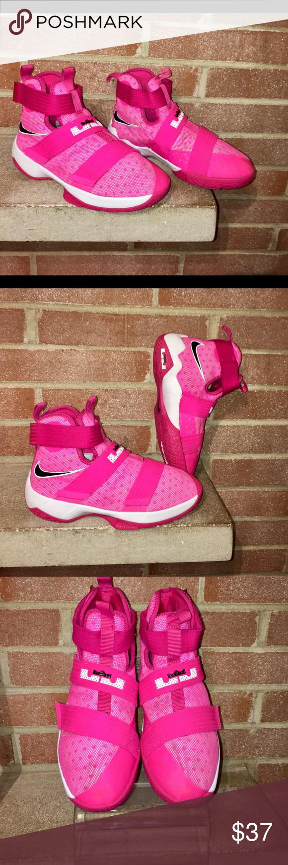 ece43b62289dd Nike Girls LeBron soldier 10(GS) youth size 4Y 36 Nike Girls LeBron ...