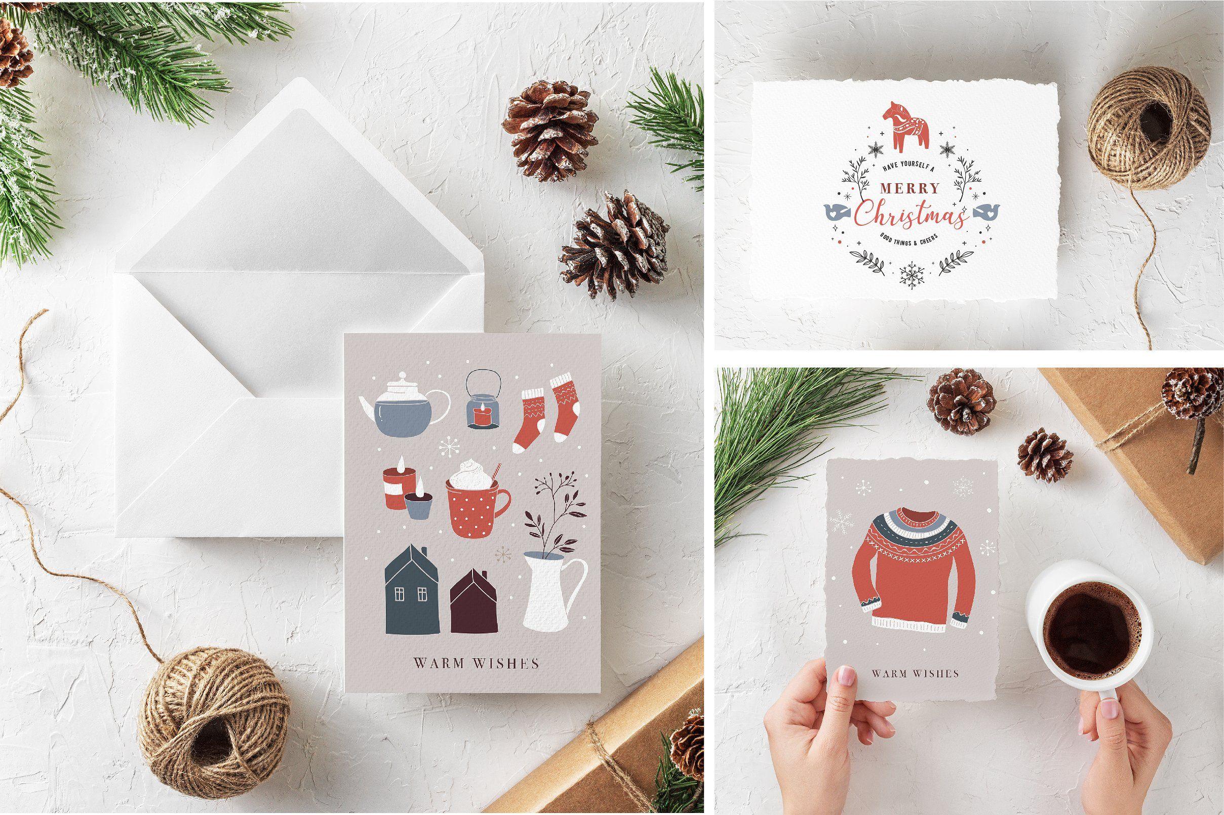 Nordic Christmas - winter collection  Nordic christmas, Greeting