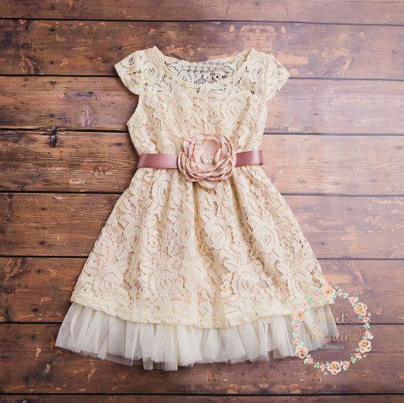 Crau Blumenmädchen Kleid Spitze-Baby-Kleidung von SweetValentina ...