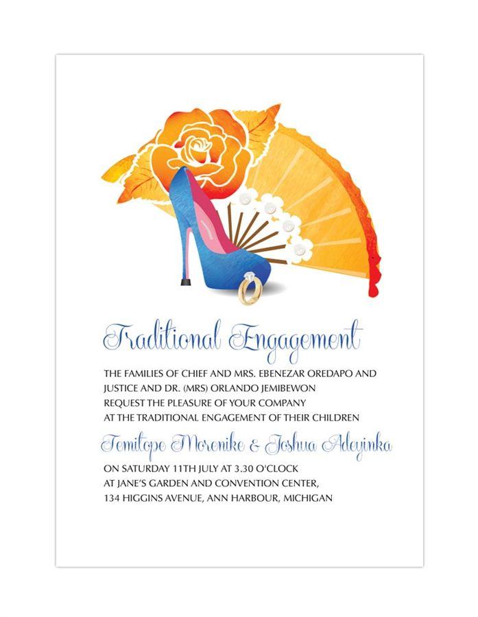 Nigerian Traditional Wedding Invitation Card Yoruba Engagement