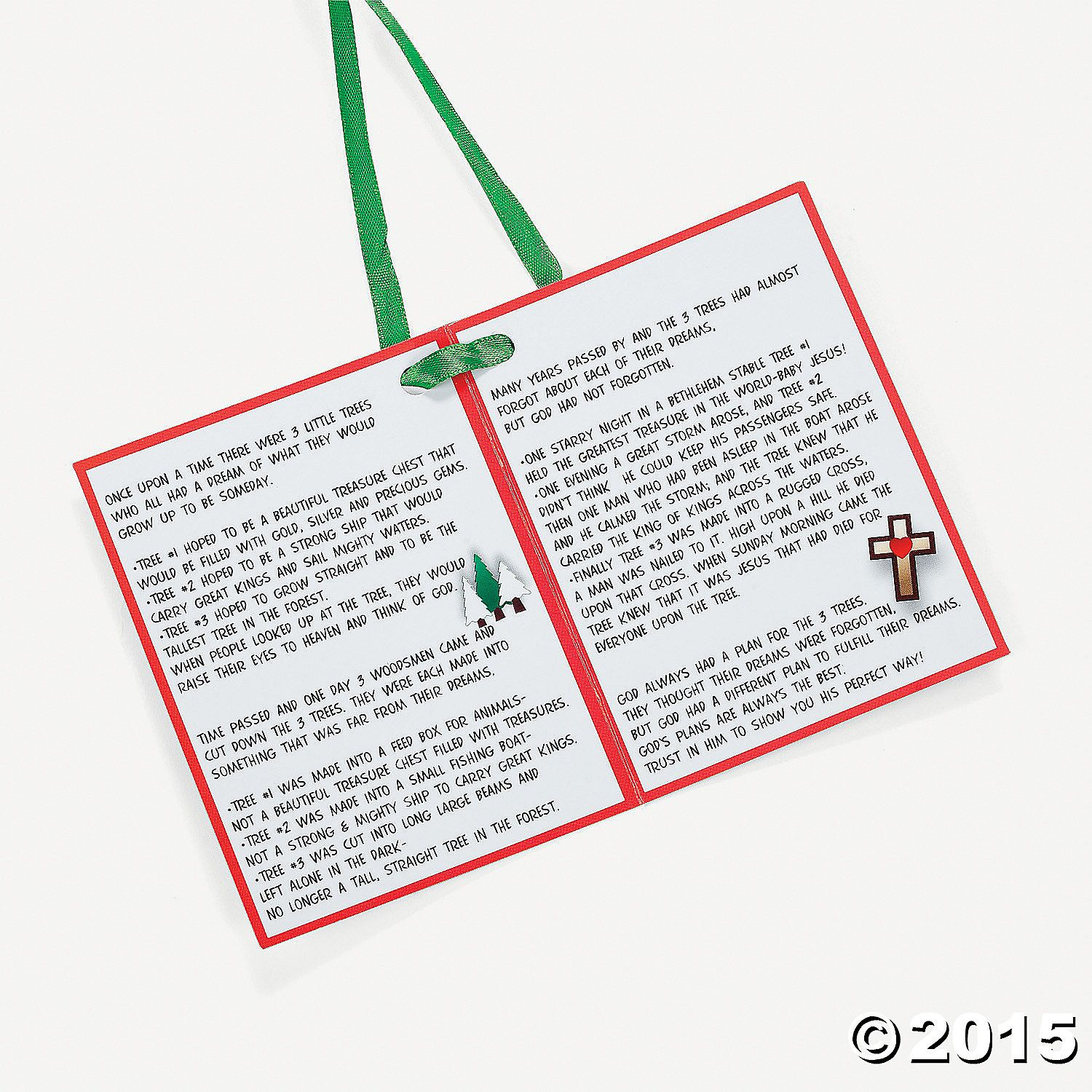 Poem About A Christmas Tree: Legend Of The 3 Trees Christmas Ornament With Poem Craft