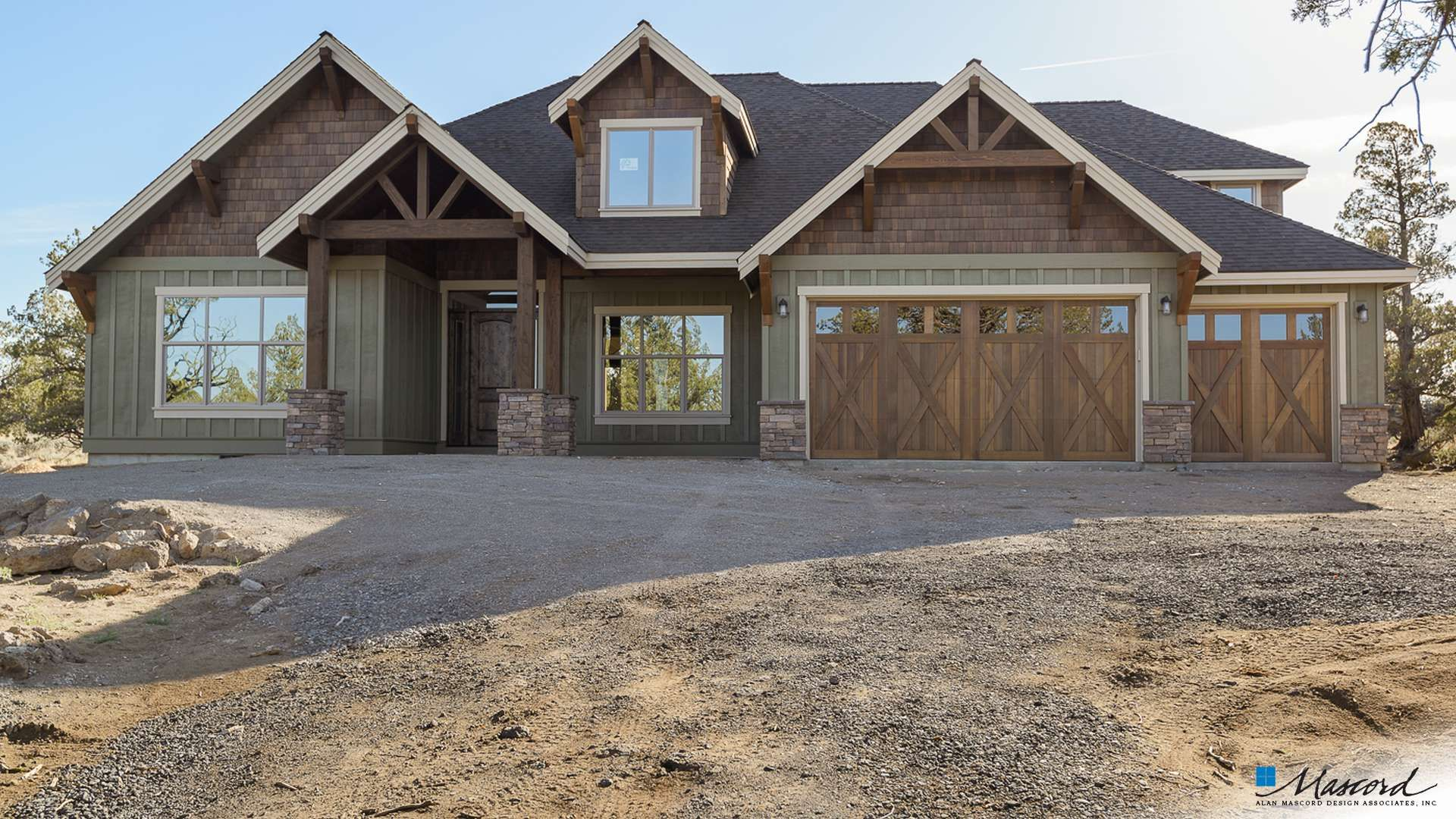 Photo of Craftsman House Plan 23111 The Edgefield: 3340 Sqft, 4 Beds, 4 Baths