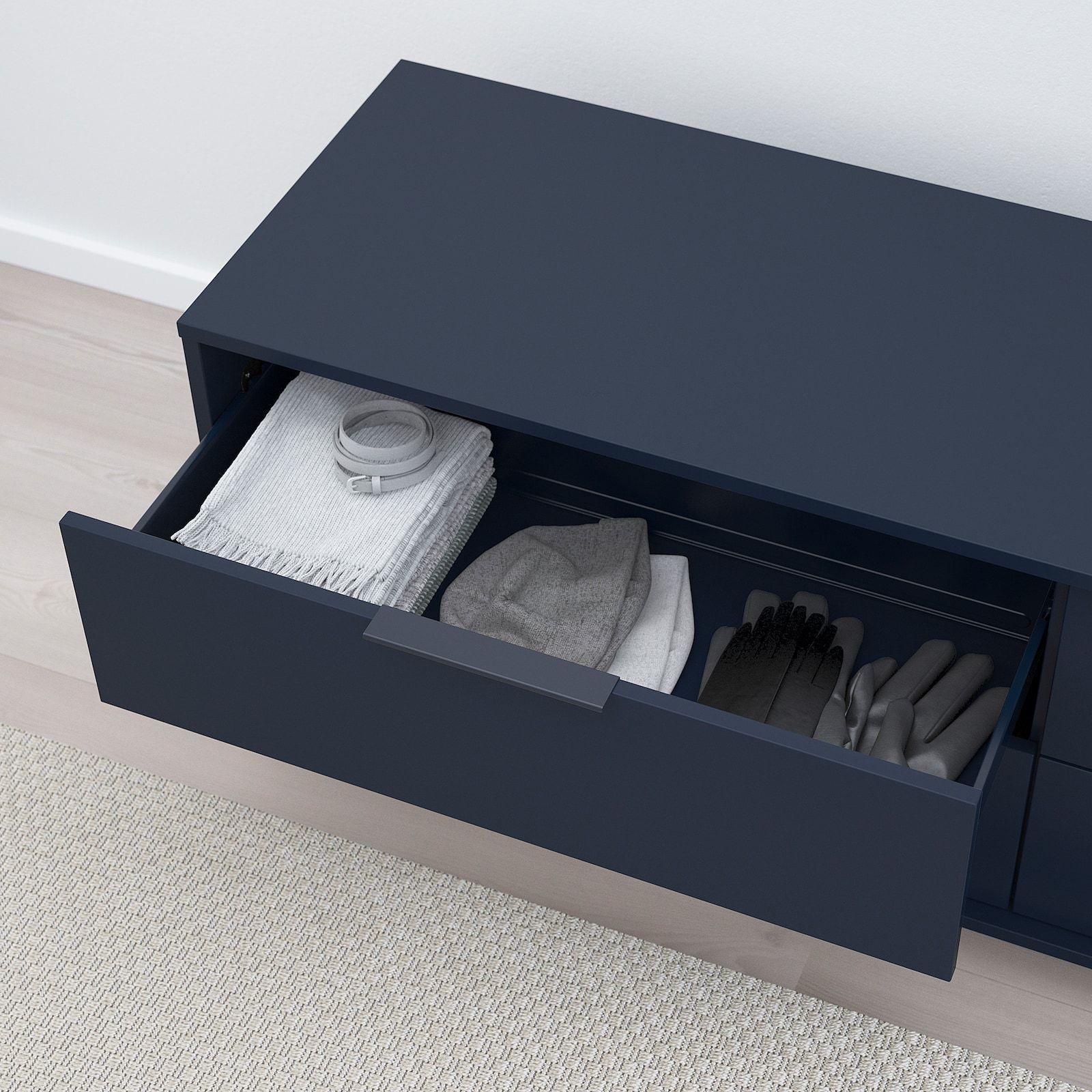 Nordmela 4 Drawer Dresser Black Blue 62 5 8x19 5 8 Ikea 4 Drawer Dresser Dresser Drawers Ikea 8 Drawer Dresser [ 1600 x 1600 Pixel ]