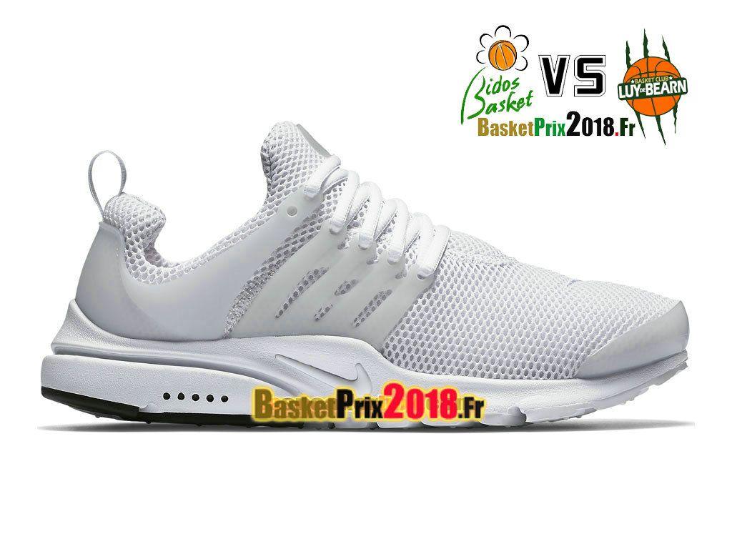 Chaussures Chaussures Prix Pas Cher Homme Nike Air Presto Triple Blanc