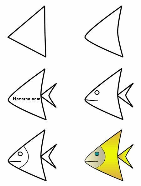 Balik Resmi çizme çocuk Drawings Animal Drawings Ve Art