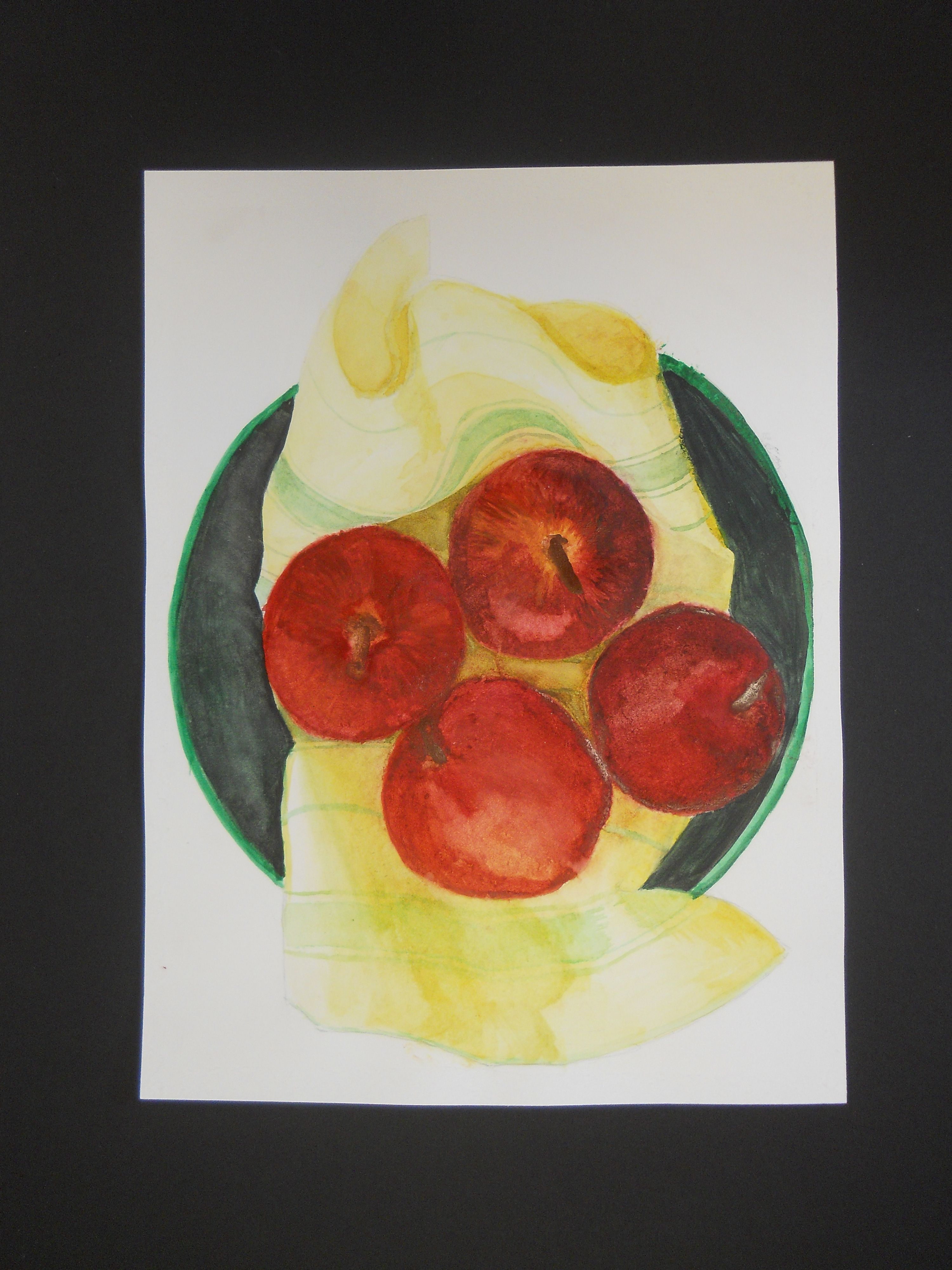 Watercolor Still Life - working from photos to imitate color, value, texture and lighting