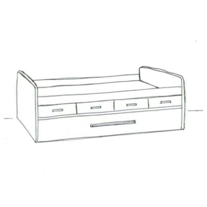 Compacto de altura intermedio con 4 cajones y cama nido de for Cama nido con escritorio