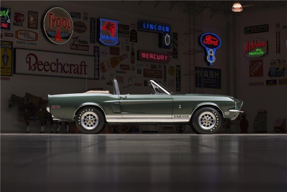 1968 SHELBY GT500 CONVERTIBLE - Barrett-Jackson Auction Company - World's Greatest Collector Car Auctions $132,000
