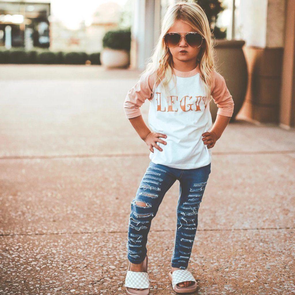 Toddler girl Baseball tee.