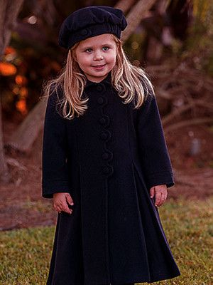 Sarah Louise Little Girls & Girls Navy Coat & Hat Classic styling ...