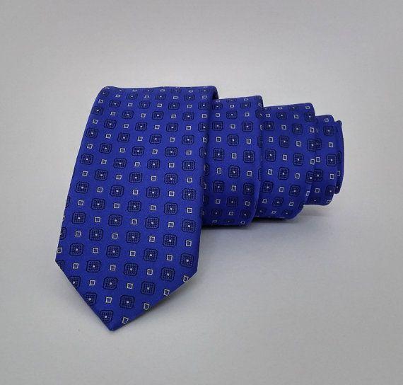 Sax Blue Men's Tie, Sax Blue Necktie, Sax Bule Cravat, Sax Blue Tie - DK338 #handmadeatamazon #nazodesign