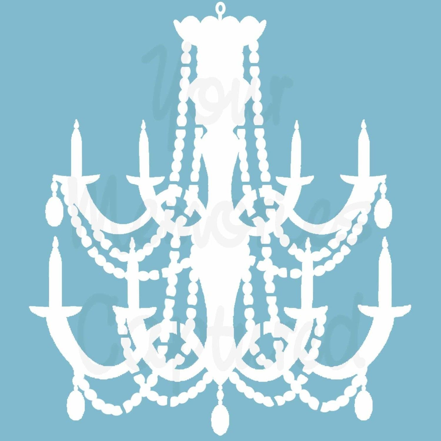 Chandelier template new beginnings pinterest chandeliers chandelier reusable stencil for fabric wood paper canvas walls via etsy mozeypictures Images