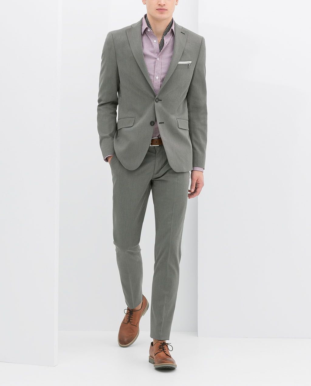 Image 1 Of GREY SUIT From Zara $170 Jacket, $80 Pants