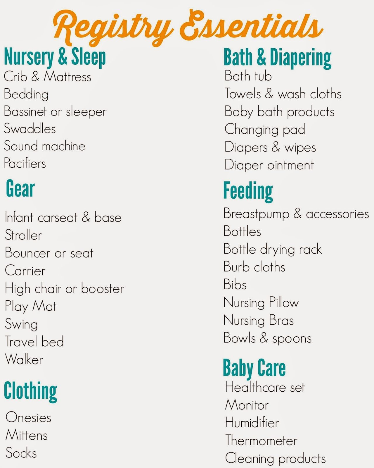 The Ultimate Registry Checklist  Baby Registry Babies And Pregnancy