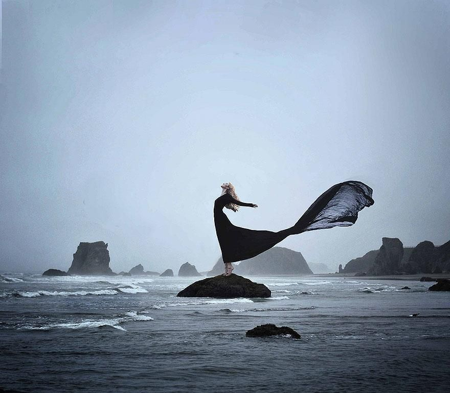 20 years old U.S.-based photographer Rachel Baran creates powerful surreal and conceptual self portraits ...