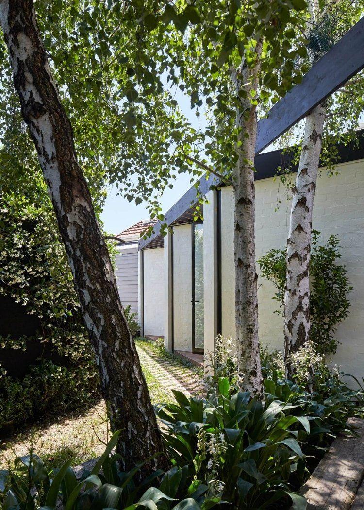 Klinker Weiss Streichen Einfamilienhaus In Melbourne Australien