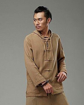 2fa092133e Beige Chinese Pankou Hooded Chinese Style Men s Jacket via Asia-Sale Best  Tai Chi