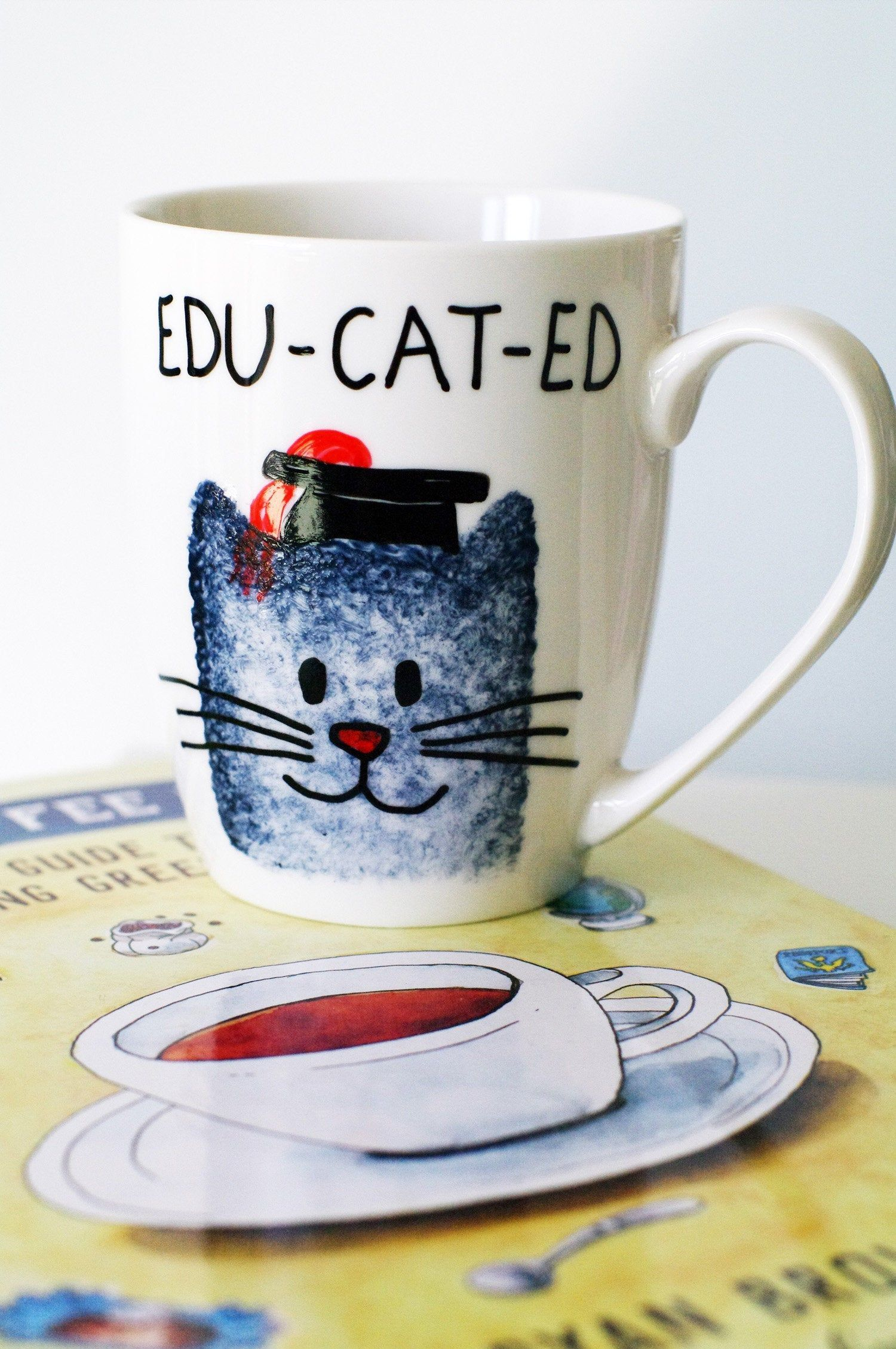 College graduation gift for him and for her handmade cat