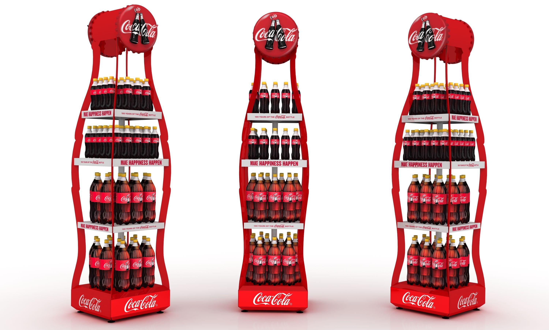 Posm design sofy posm design - Display Design Coke Metal Bottle Display Bottle Displaypos