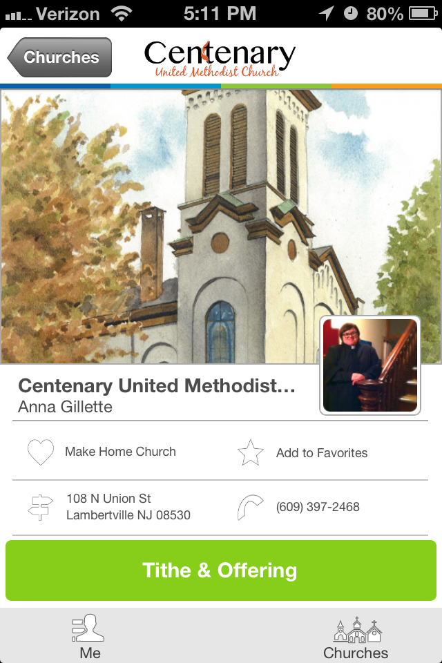 Centenary United Methodist Church in Lambertville, NJ