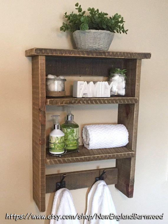 Coat Rack Wall Mount Bathroom Shelf With Hooks Entryway