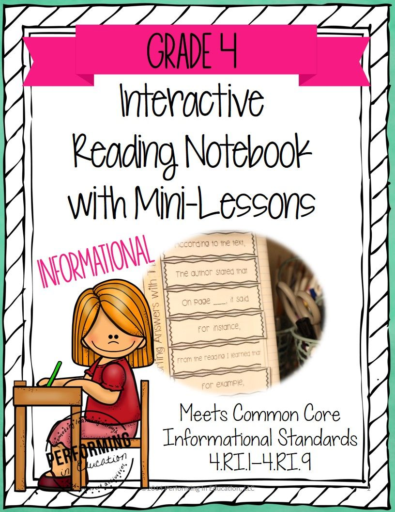 Interactive Notebook with Mini Lessons - 4th Informational ...