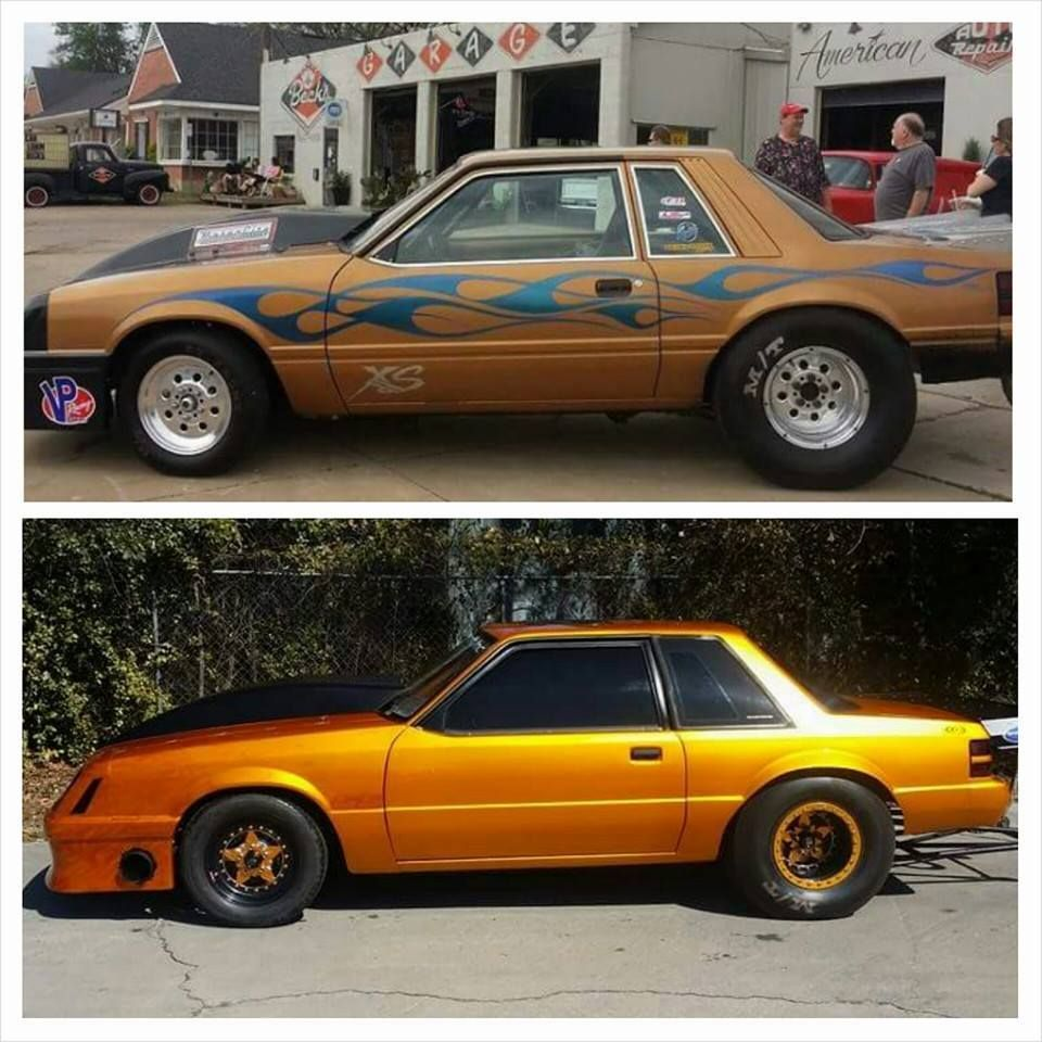 Varley's The Gold Car Before and After.