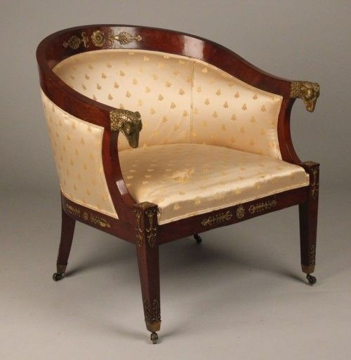 French Empire Bergere Arm Chair C 1830 1860 Napoleon