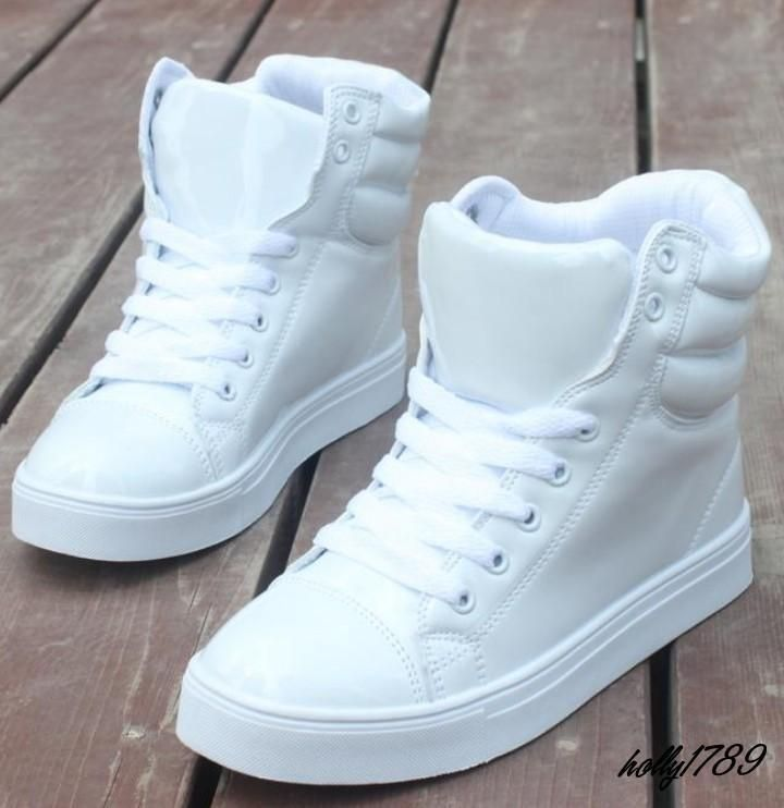 Womens Girls Hip Hop Sneakers Round Toe