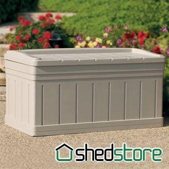Fantastic Suncast Deck Box With Seat Garden Storage Garden Ideas Machost Co Dining Chair Design Ideas Machostcouk