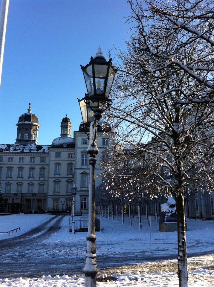 Winter auf Schloss Bensberg