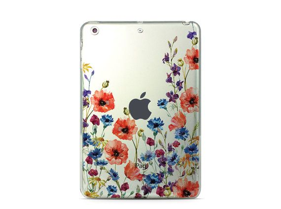 Tablet Stand Flower iPad Pro 12.9 Case Clear iPad Pro 9.7 Case Floral iPad  Pro Case