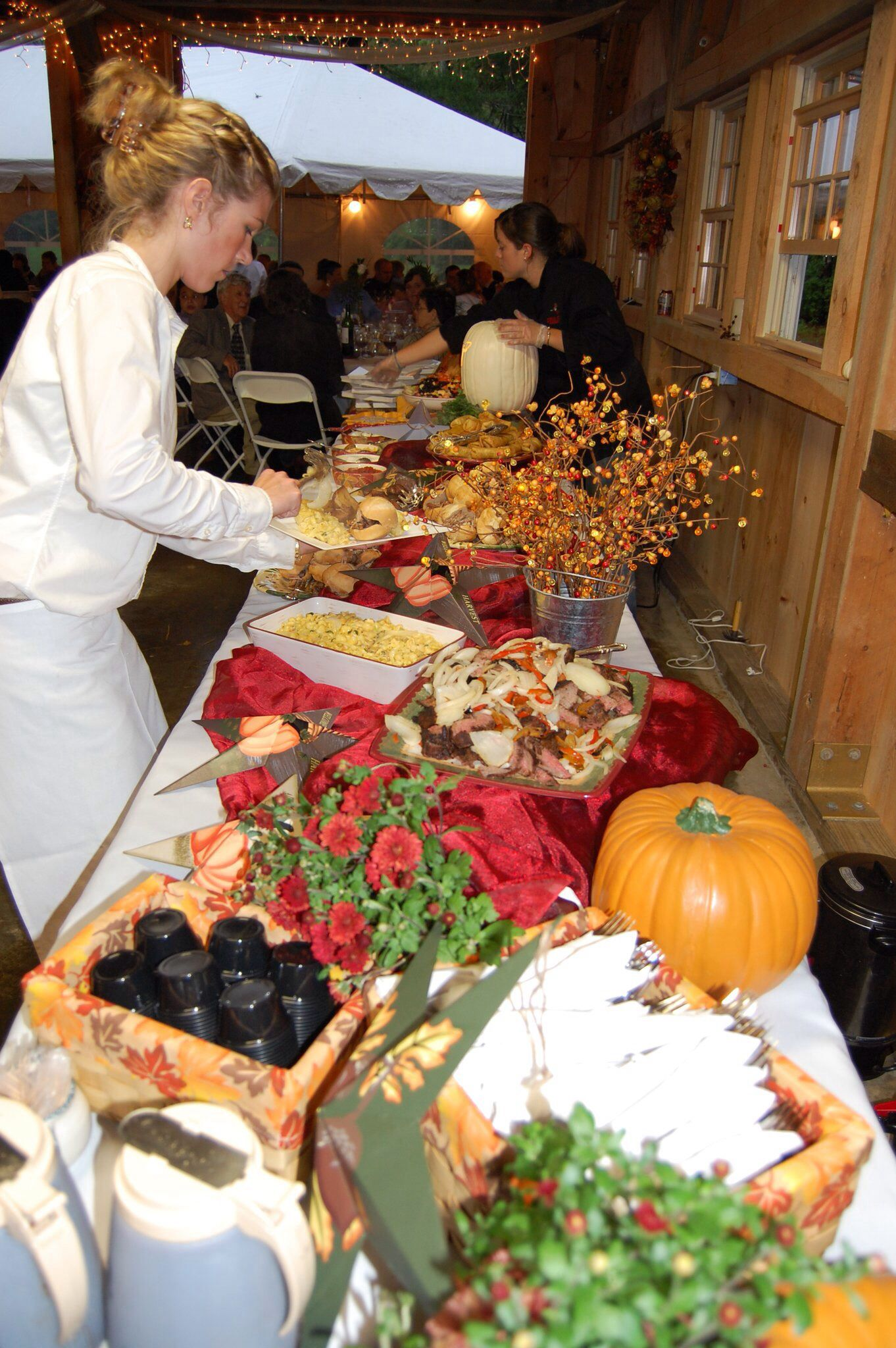 Fall wedding harvest BBQ buffet Wedding catering menu