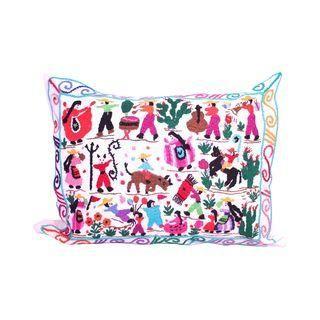 Handwoven Tzin Tzun Tzan White Pillow Cover chambre Adele